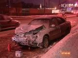 *** ДТП в Петербурге на Октябрьской набережной, виновница аварии погибла на месте