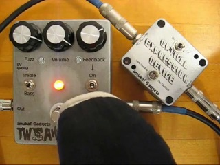 Bass fuzz: tweaker and optical expression pedal by amukat gadgets