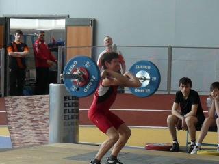 Тяжёлая атлетика. Торопов Владислав.13 лет. в/к до 46 кг. Толчок - 70 кг.