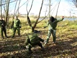 Тренировка по ножевому бою на Москва-реке. Часть 2