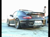 Porsche 997 Techart Turbo Vs. Mercedes E 55 AMG Drag Race