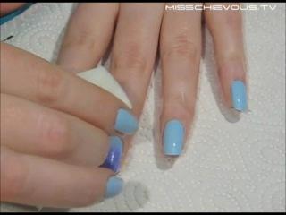 Как сделать градиент на ногтях