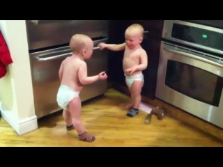twin baby boys have a conversation - part 2