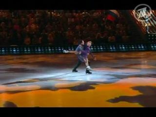 Танец на льду под музыку из Сатисфакции (катает Екатерина Вилкова - гр. Галицына)