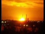 Взрыв на в/ч в Пугачево (снято из Ижевска, 32 км от пожара)
