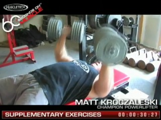 Muscletech 60 seconds on muscle matt kroczaleski- supplementary exercises