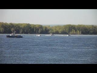 река Волга с набережной города Самары, фрагмент 2