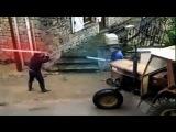Два деда деруться на световых (лазерных) мечах - Эпическая битва Дедов ))