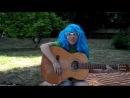 синеволосый мальчик с гитарой тоесть НЕКИТ