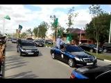Рамзан Кадыров и его кортеж в Грозном