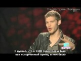 Joseph Morgan talks Klaus on MTVs The Seven (Русские субтитры)