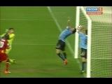 Красивейший момент ЧМ 2010 по футболу в ЮАР. Уругвай:Гана. Самое крутое, то что Уругвай позже выиграл по серии пенальти