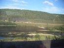 Из окна вагона поезда N8.Вид на р Сылва-в районе ст Кунгур.