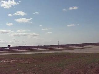 посадка ТУ154 RA85563 семка посадки с другой точки