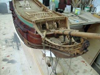 Модель корабля голландской ост-индской компании Принц Виллем, 1651 г. постройки.