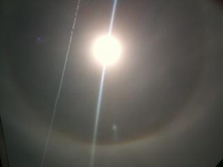 Редкое оптическое явление – гало вокруг Солнца!