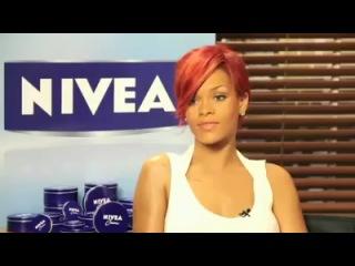 Рианна на съёмках промо-кампании Nivea