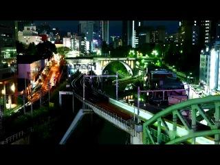 Жизнь ночного города в Time Lapse