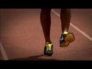 Asafa Powell Nike Zoom Drill 5 Straight Leg Run