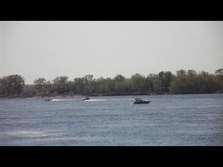 река Волга с набережной города Самары, фрагмент 1