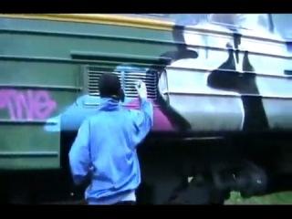 MWG CREW,граффити на поездах в России (Кострома,Нерехта)