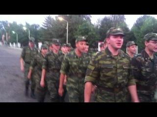Исполнение строевой песни курсантами 1 взвода (г. Тамбов, 2011)