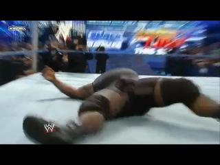 RKO on Mark Henry + Funny Jump From Randy Orton