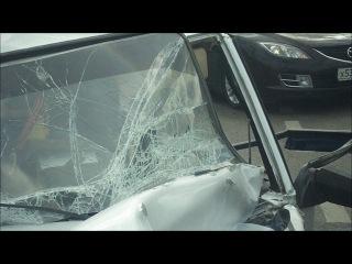ВАЗ протаранил внедорожник на Варшавском шоссе: 3 пострадавших (7.08.11)