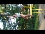Выход в стойку на брусьях из высокого угла (2)