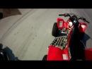 Honda TRX 450R vs Suzuki LTR 450 Drag Race
