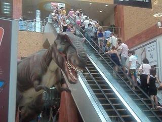 Динозавр в ТЦ Золотой Вавилон на Проспекте Мира
