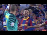 Празднование чемпионства ФК Барселоной после матча Барселона - Депортиво