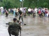 Показные выступления разведки 61-й Бригады МП, СПУТНИКА