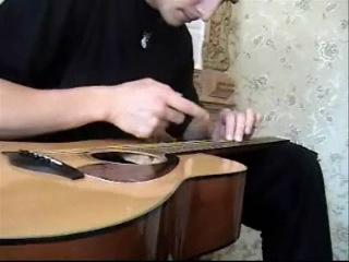 Никита Мовчанюк - маленький фрагмент импровизации в стиле Lap tapping