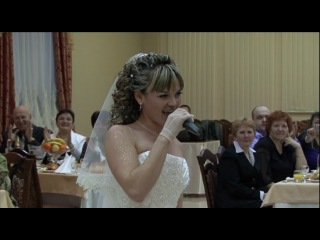 офигенно поет невеста!