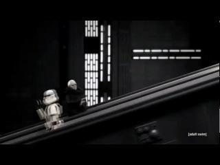 Робоцып - Звездные войны ( Дарт Сидиус на ескалаторе )