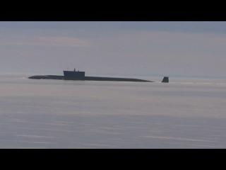 Северодвинск. Всплытие АПЛ  Юрий Долгорукий.
