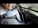 • Девушка за рулем УАЗ Буханки •