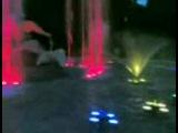 Вечірній фонтан в Стрийському парку