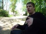 Белорусский парень читает Французский рэп в Польше. Белосток 2011