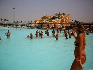 Египет. Аква - аэробика в бассейне.
