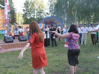 Кумыкский театр в Казане на сабантуе