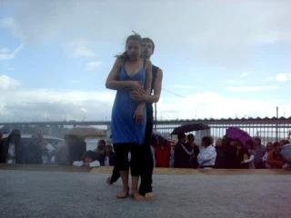 показательное выступление наших тренеров по современным танцам на дне города