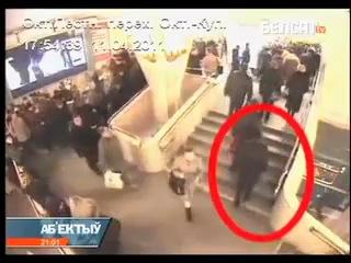 Видео с камер наблюдения! Уникальные кадры теракта!