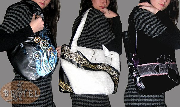 Швея на дома для пошива сумок из кожзама и ткани.