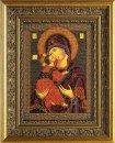 Икона из бисера 'Владимирская богородица' .