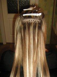 Наращивание волос мелирование