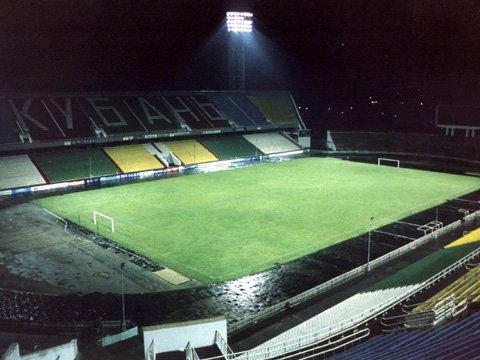 """Стадион  """"Кубань """".  Фото сайта с официального сайта клуба."""
