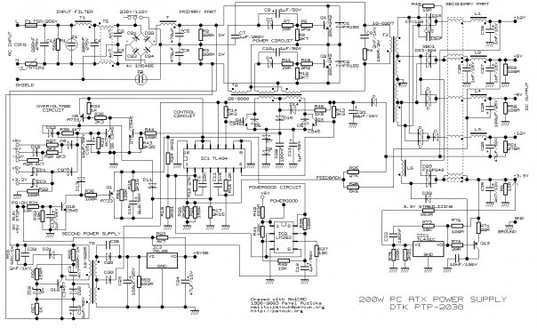 электронная схема эконом лампы