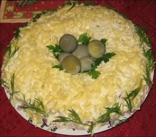 Птичье гнездо рецепт фото